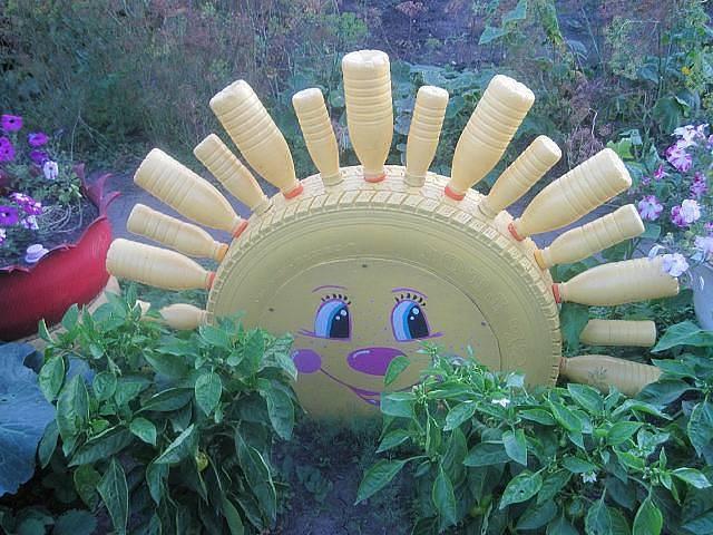 Украшения из подручного материала своими руками для сада